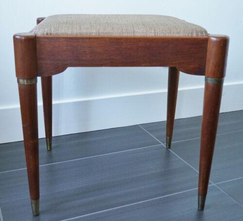 Vintage Mid Century Modern Singer Rocketeer Sewing Stool Vanity Chair Footstool