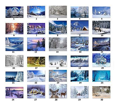 30 Personalized Return Address Labels Winter Scenery Buy 3 Get 1 Free Ws1