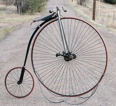 Photo Antique Springfield Roadster Safety High Wheel Bicycle Ordinary Bike IverJohnson