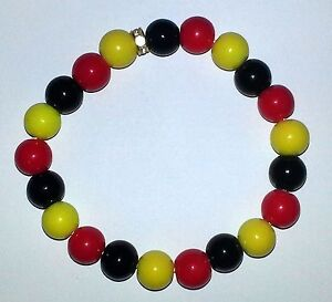 Bling Bracelet / Glass Ball Bracelet - Watford Football Club - Watford FC