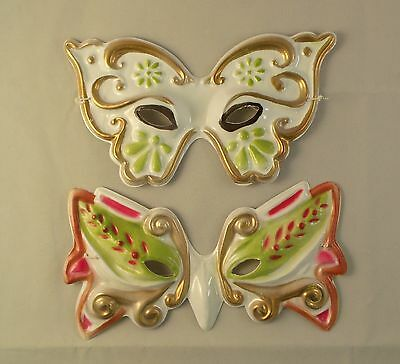 24 Decorative Madi Gras Style Plastic Halloween  Half Masks