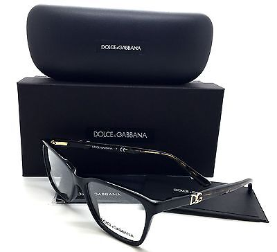 Dolce Gabbana Black Eyeglasses DG 3153P 2688 52 mm Marble Gold