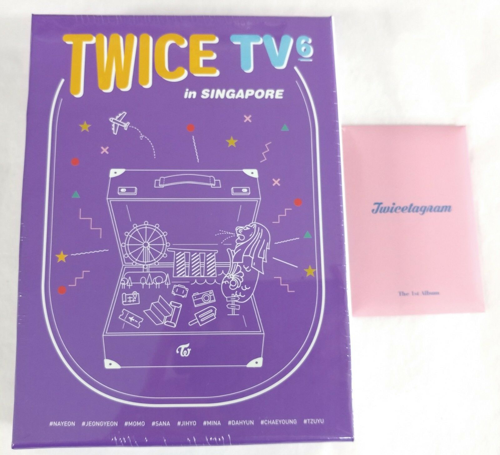 Twice - Twive TV6 3DVD+80p Photobook+ 9es Postcard W/ Gift Photocard Set