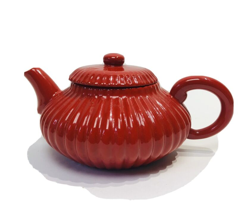 MARIAGE FRERES Red Ceramic Pottery Teapot
