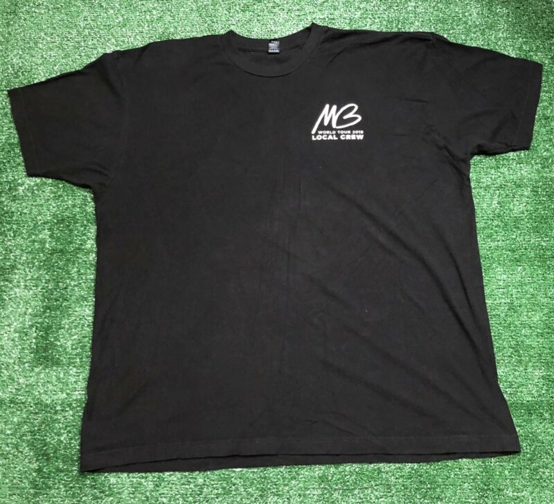 Michael Buble Concert Tour 2019Local Crew T-Shirt Size 2XL Black