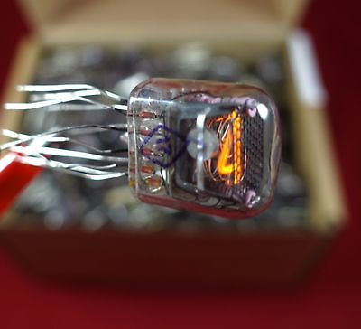 6x IN-17 nixie tube USSR indicator for DIY clock NOS UNSOLDERED