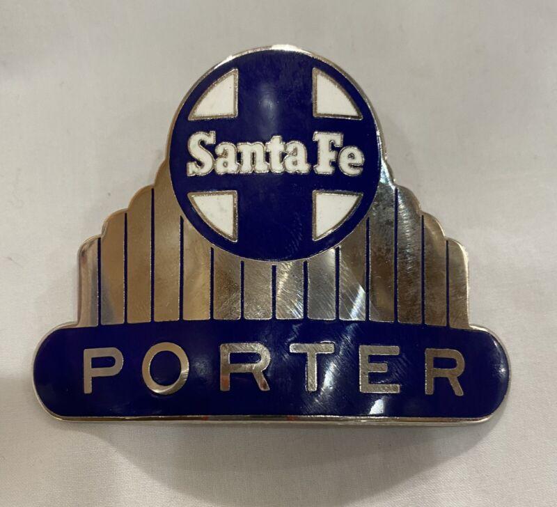 SANTA FE RAILROAD PORTER Hat Badge