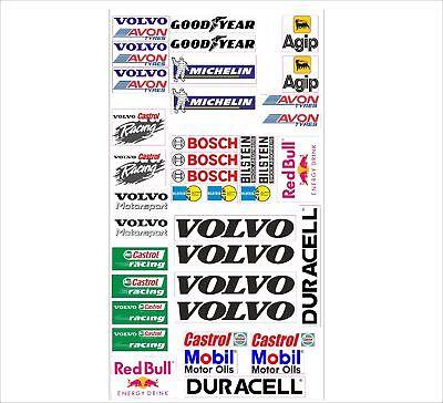 Volvo Logo Autoaufkleber Sponsoren Marken Aufkleber Decals Tuning Sticker Set