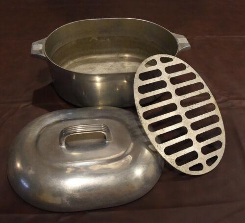 Vintage Wagner Ware Sydney O Aluminum Magnalite 4265-P Roaster Oven w Lid Trivet
