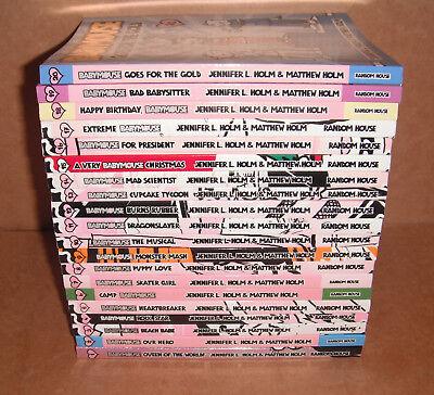 Lot of 20 Babymouse Books by  Matthew Holm, Jennifer L. Holm Complete Set NEW