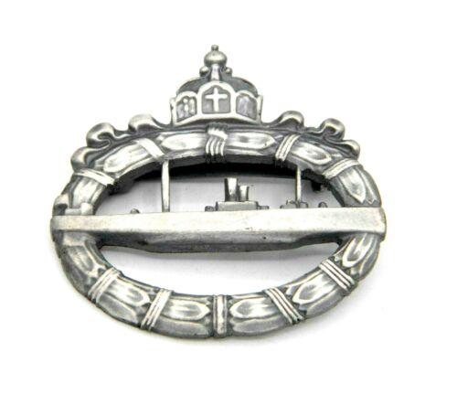 WW1 U-boot War Badge German The Kaiserliche Marine Kriegsabzeichen 1918 Badge