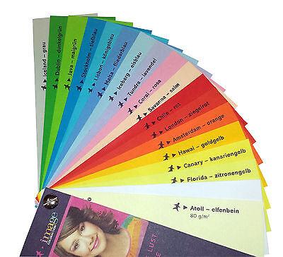 Tonpapier Tonkarton  Tonzeichenpapier A4 - basteln viele Farben 160g/m² (22339)