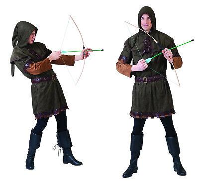 Herren mittelalter Kostüm KNECHT Knappe Farmer Robin Hood - Robin Hood Herren Kostüm