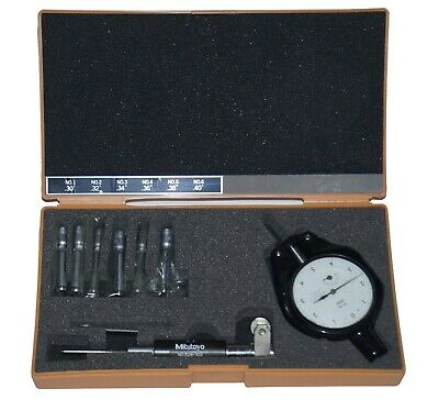 Mitutoyo 526-122 Small Bore Gage Set 6-anvil.3-.4 2923-10 Dial Gage .0001