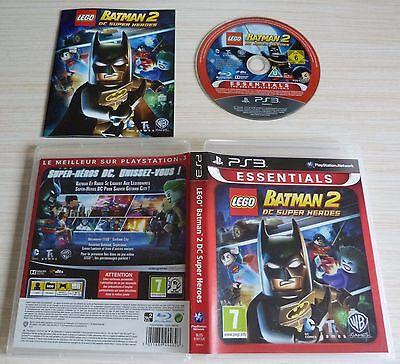 JEU VIDEO PLAYSTATION 3 PS3 BATMAN 2 DC SUPER HEROES NOTICE FRANCAISE