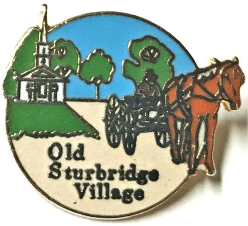 Vintage Travel Souvenir Pin Old Sturbridge Village Mass. Museum Hat Lapel Jacket