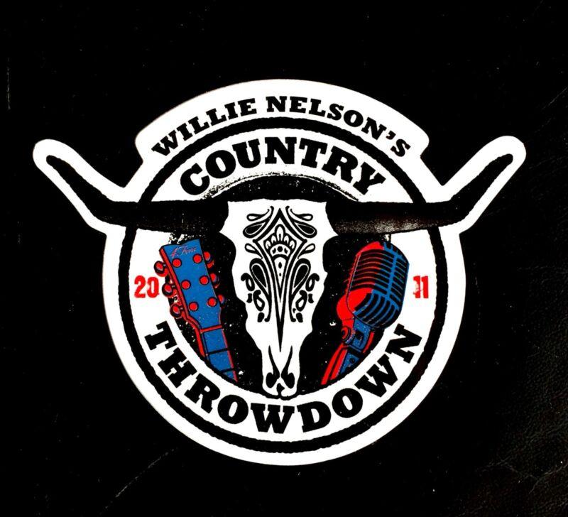 Willie Nelson Tour Sticker. Willie Nelson's Country Throwdown 2011 Sticker.