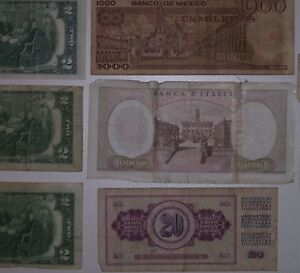 REDUCED 17 Assorted Canadian USA,Italian Mexican paper currency, Cornwall Ontario image 9