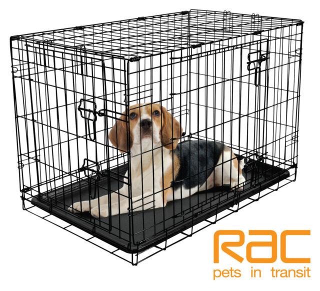 "RAC Fold Flat Metal Dog Crate - Medium 30"" RRP - £39.99"