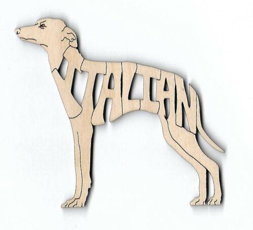 Italian Greyhound Dog laser cut wood Magnet