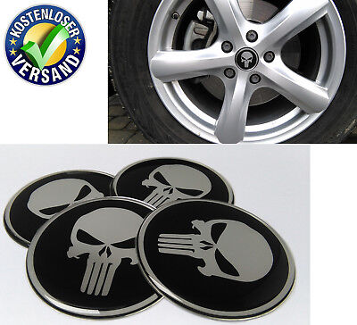 Gebraucht, 60mm aufkleber emblem skull Nabendekel Radkappen Nabenkappen opel bmw audi vw pe gebraucht kaufen  Ravensburg