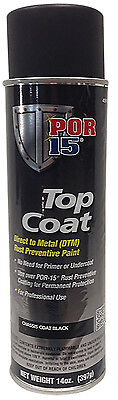 Por 15 45918 Chassis Coat Semi Gloss Black Top Coat   14Oz Aerosol Can   Each