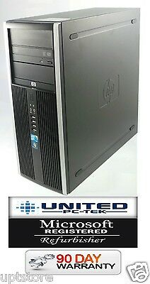 Fast HP 8000 Elite Tower Windows 7 Pro Intel Core 2 Duo, 3GHz, 4GB, DVD/RW 250GB