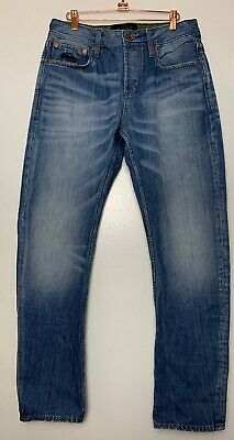 SUPERDRY Jeans Men's Size 32 x 30 Loose Fit Button Fly Medium Wash Blue