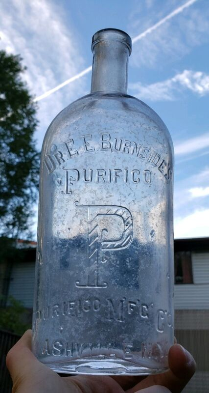 Antique Bottle Dr. EE Burnside
