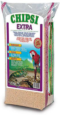 Chipsi Extra XXL 15kg Buchenholz - Granulat Bodensubstrat Reptilien Nager Vögel