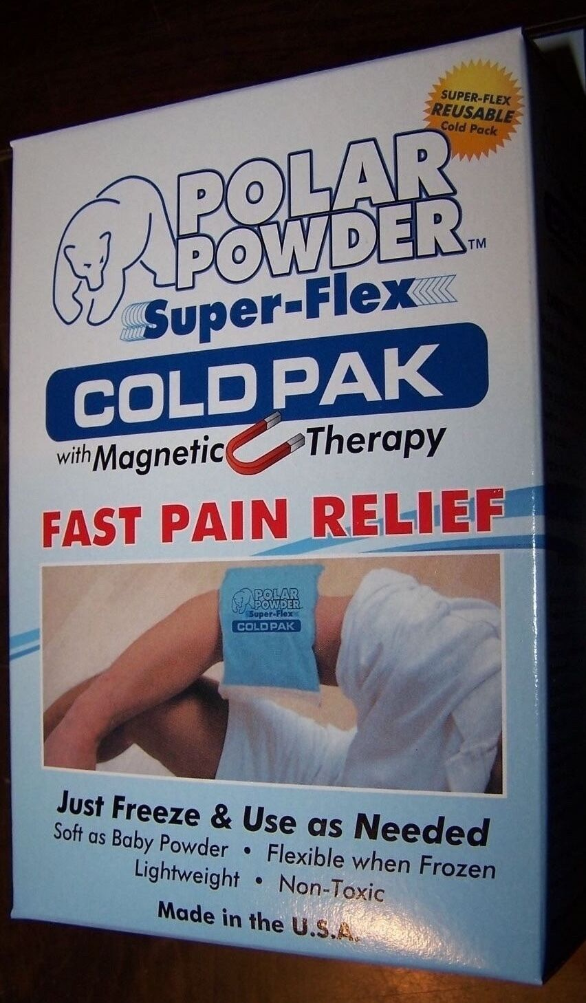 POLAR POWDER SUPER-FLEX COLD PAK WITH MAGNETIC THERAPY-REUSABLE!-MADE IN U.S.A.!