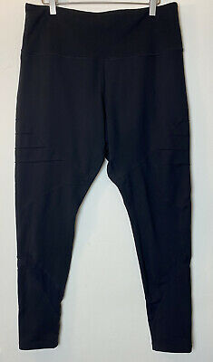 Zella Black Moto Legging Yoga Pants Women's Size 2X Workout Athletic
