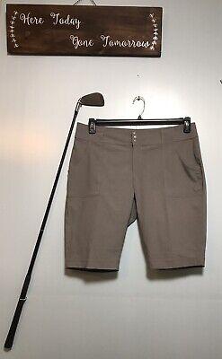 Jofit Gray Bermuda Shorts Womens Size 12 - -
