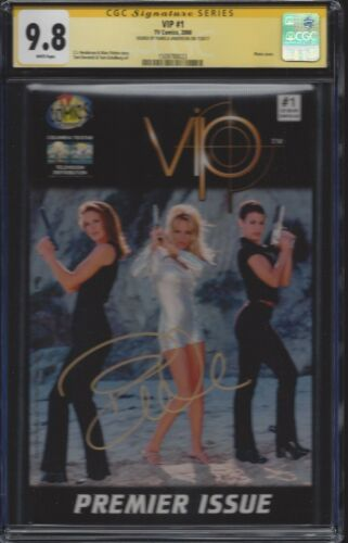 VIP #1 Photo Cover__CGC 9.8 SS__Signed by Pamela Anderson