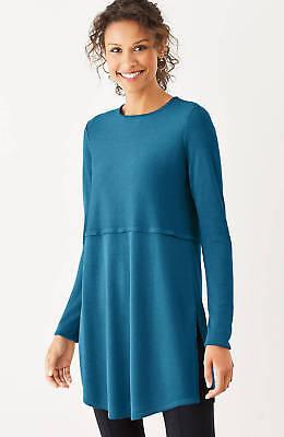 J.Jill  Grace Sweater  Tunic    4X    NWT  $99    Tunic  Prussian  BLUE