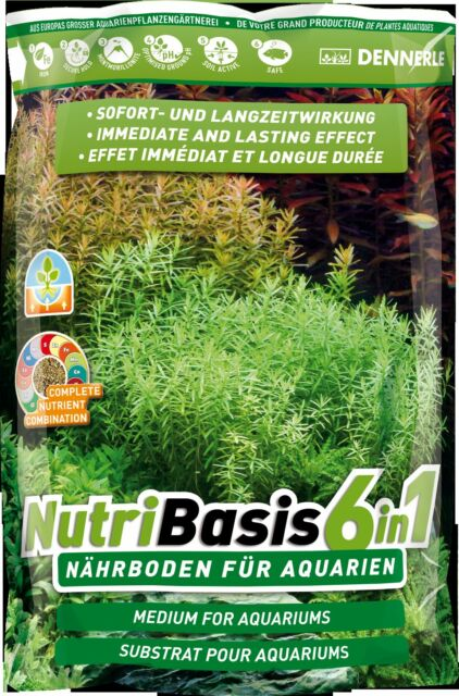 Dennerle NutriBasis 6in1 Top Quality Aquarium Plant Soil Substrate 4.8kg