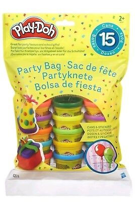 Play-Doh Mini 15 Pots Of Coloured Play Dough With Stickers Fun Kids Toy Set