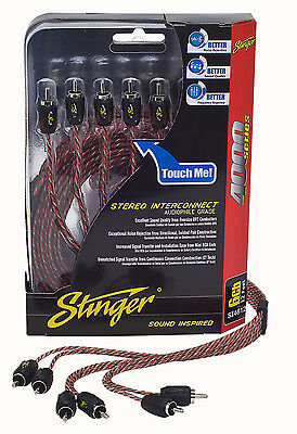 Brand New Stinger RCA Interconnect Cable 4000 Series 12 Feet SI4612 6 Channel