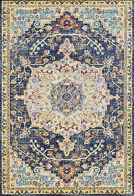 United Weavers Blue Transitional Casual Scrolls Petals Area Rug Floral 713 20160