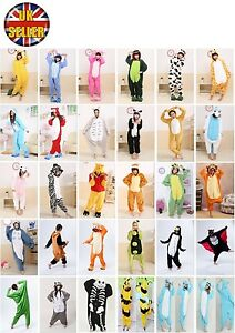 Animal-Unisex-Onesie-Kigurumi-Fancy-Dress-Costume-Hoodies-Pajamas-Sleep-wear