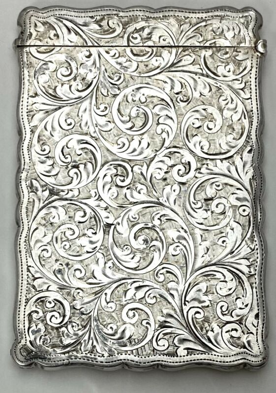 William Neale Sterling Silver England English Victorian Chester 1900 card case