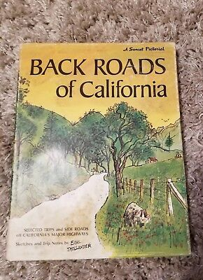 Back Roads of California Sketches & Trip Notes by Earl Thollander- 1st Printing for sale  Merced