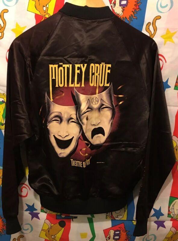 Vintage 1985 Motley Crue Theater Of Pain Satin Jacket Winterland Small Rare