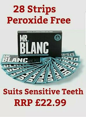 Mr. Blanc Teeth - Teeth Whitening Strips - 2 Week Supply - Enamel Safe 28 Strips