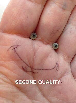 M00669 MOREZMORE SECONDS Miniature Glass Eyes 4mm LIGHT GREY Small Tiny A60