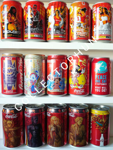 Coca Cola can collection ( total 15 different cans ) Disney Disneyland  etc...