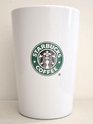 Rare 2000 STARBUCKS Ceramic Barista Coffee Jar Canister (Milky) 7 in. tall