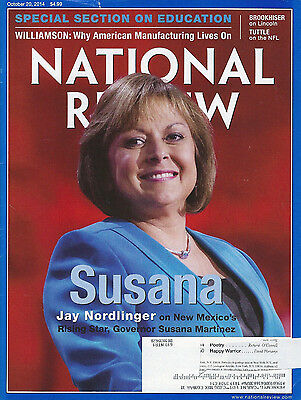National Review October 20  2014 Susana Martinez Of New Mexico Lincoln Nfl Gop
