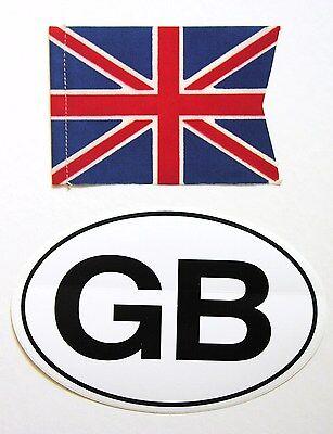 Original 1970's British Union Jack flag/banner and GB Euro oval vinyl sticker