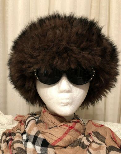 Vtg Original 1960s Tuscan Lamb Fur Beret Ski Hat Brown Fluffy Hat Made In Italy
